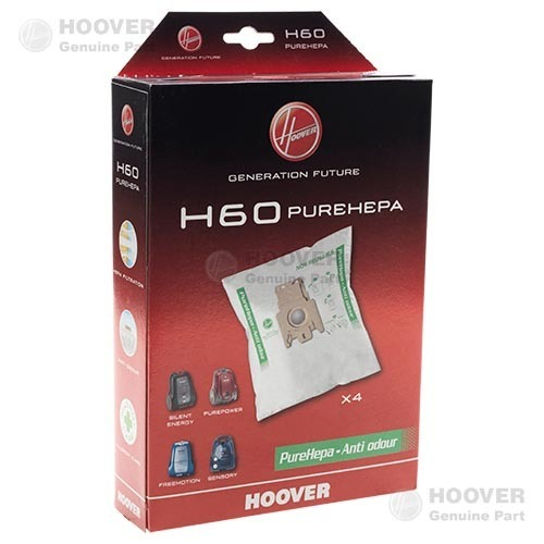 Sacchi originali Hoover H60 in microfibra Sensory , Freemotion  , Telios Plus